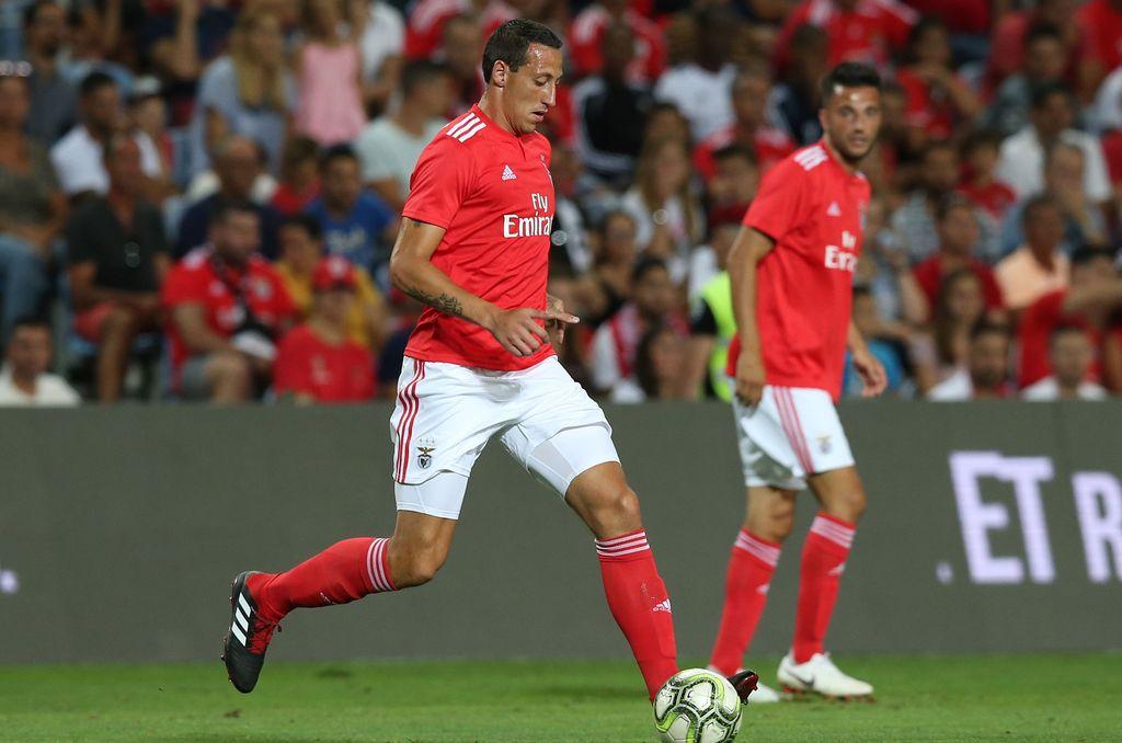 Cristian Lema, actual jugador del Benfica. Crédito: Archivo