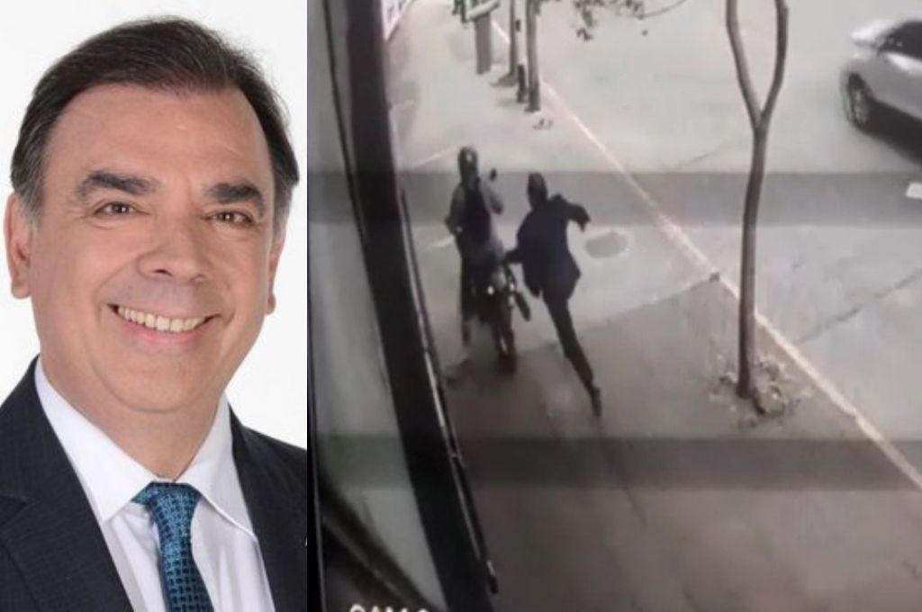 Un motochoro asaltó al periodista y candidato a intendente Luis Otero