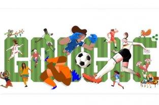Google dedica el doodle de hoy al comienzo del Mundial femenino de fútbol
