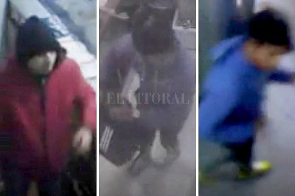 Los delincuentes que asaltaron las panaderías quedaron filmados. Crédito: Captura digital