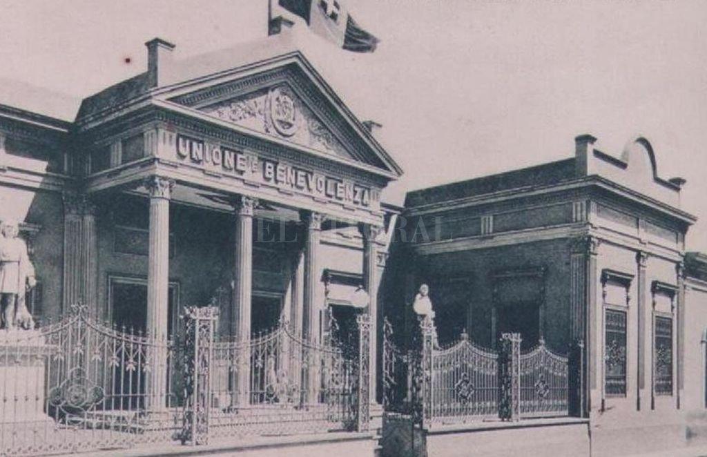 Edificio de Unión y Benevolencia Dante Alighieri. Ca. 1900. Crédito: Gentileza organizadores