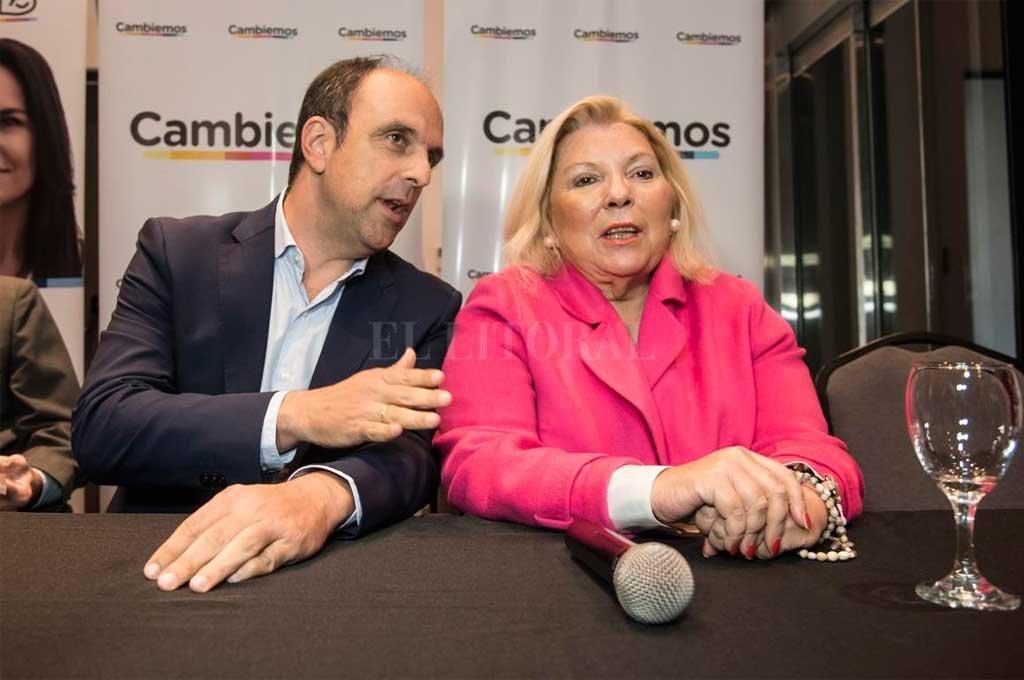 Corral estuvo junto a Elisa Carrió este martes Crédito: Marcelo Manera