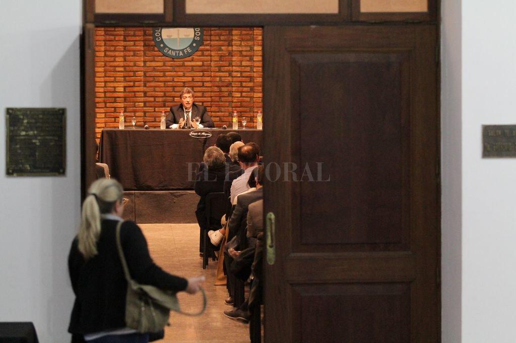 Curso en el Colegio de Abogados, con el ministro de la Corte Suprema de Justicia de la Nación Horacio Rosatti como expositor. <strong>Foto:</strong> Pablo Aguirre