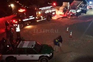 Tras un derrumbe quedaron atrapados tres mineros