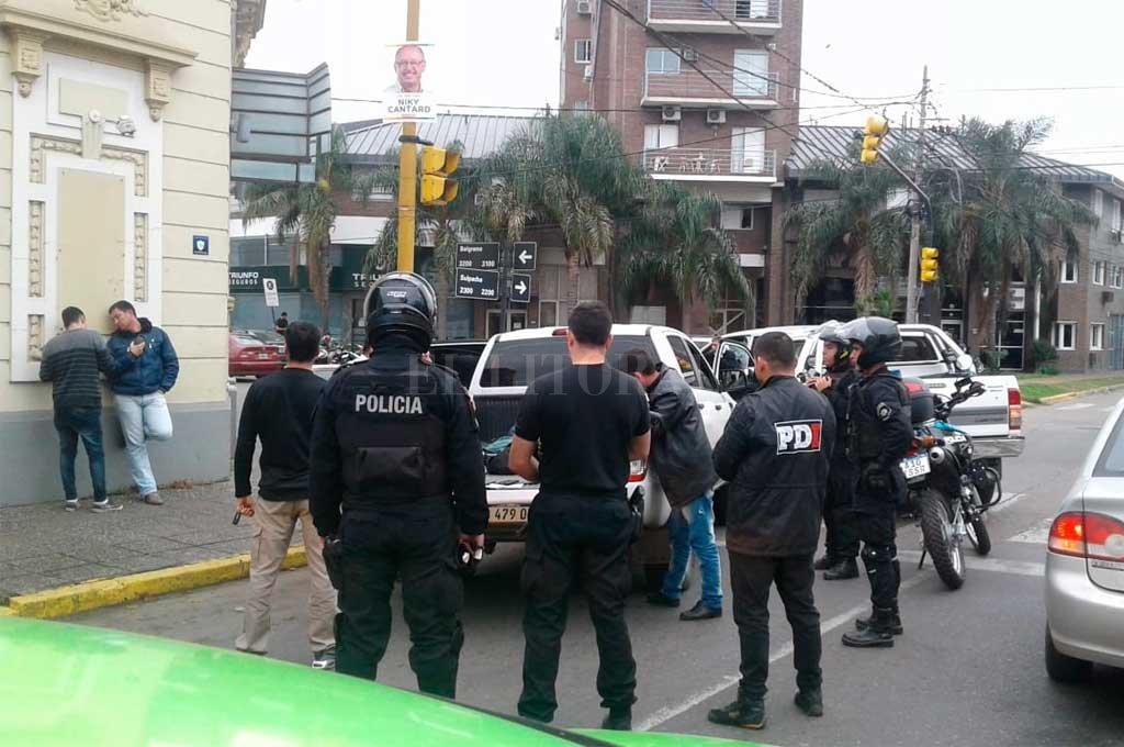 El momento de la detención <strong>Foto:</strong> El Litoral