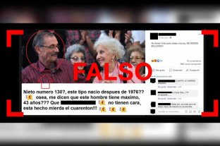 No, el hombre de la foto viral no es el nieto 130 recuperado por Abuelas de Plaza de Mayo -  -
