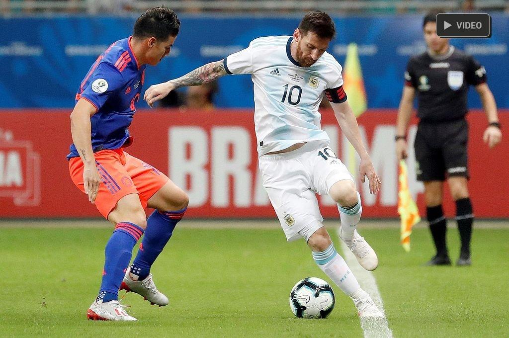 Derrota de Argentina ante Colombia en inicio de la Copa América -  -