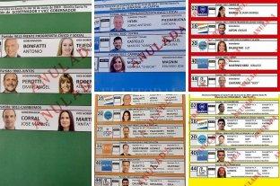 Así son las boletas que te vas a encontrar este domingo en el box de votación -