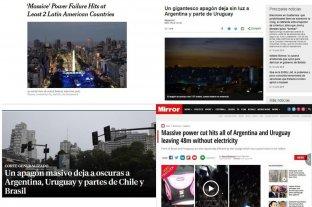 Medios de todo el mundo reflejaron el apagón masivo en Argentina