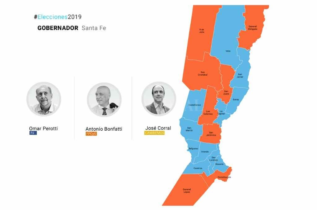 En Santa Fe, el PJ ganó en 11 de los 19 departamentos -  -