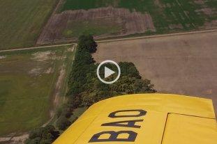 Soja desde el aire: mirá el paso a paso de una exitosa experiencia en San Justo