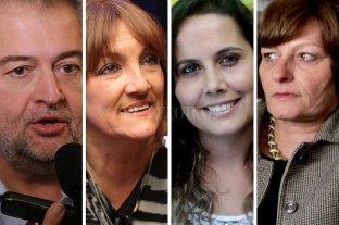 Roberto Mirabella ocupará la banca que Perotti dejará en el Senado de la Nación - Roberto Mirabella, Patricia Mounier, Jorgelina Mudallel y María Laura Spina. -