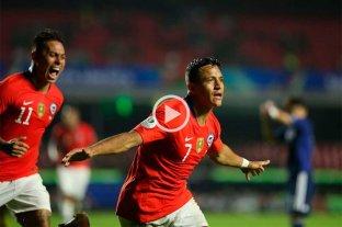 Chile debutó en la Copa América con una goleada ante Japón -  -