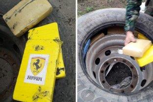 Incautaron 285 kilos de cocaína transportadas en ruedas de auxilio de un camión -  -