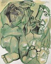 """La pintura de Picasso """"Hombre y mujer"""" se vendió por 16 millones de dólares"""
