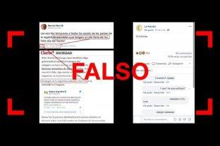 Es falso el tuit de Macri por el Día del Padre un minuto antes del apagón -  -