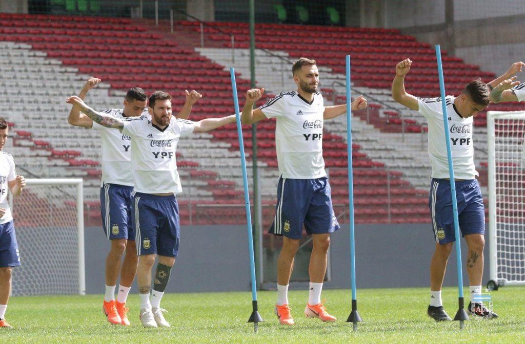 Último entrenamiento de Argentina <strong>Foto:</strong> @Argentina