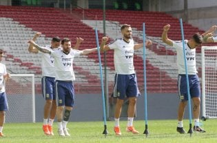 Argentina toca lo que sea, menos el arpa - Último entrenamiento de Argentina -