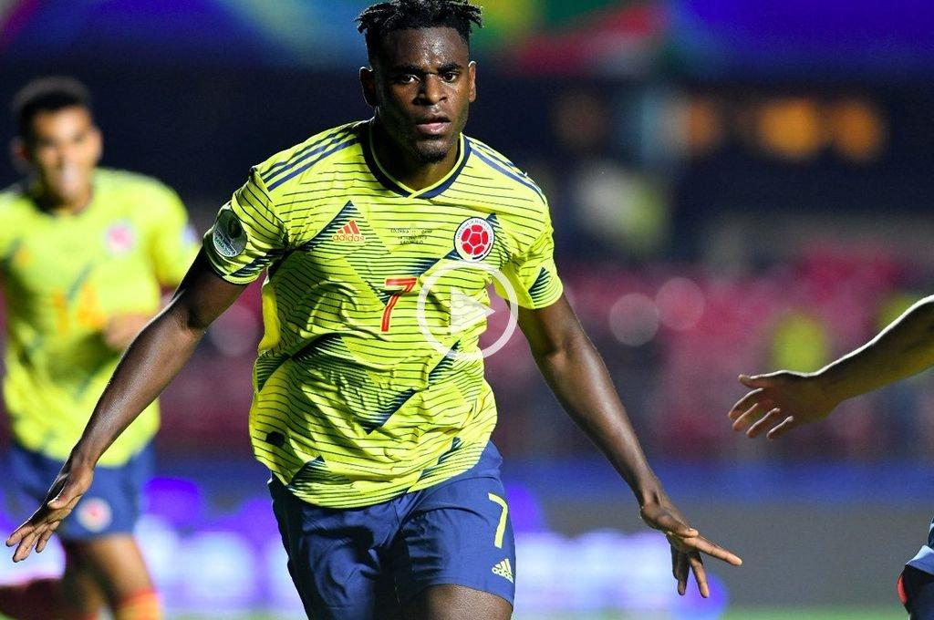 Colombia venció a Qatar en el final y avanzó a cuartos de final de la Copa América