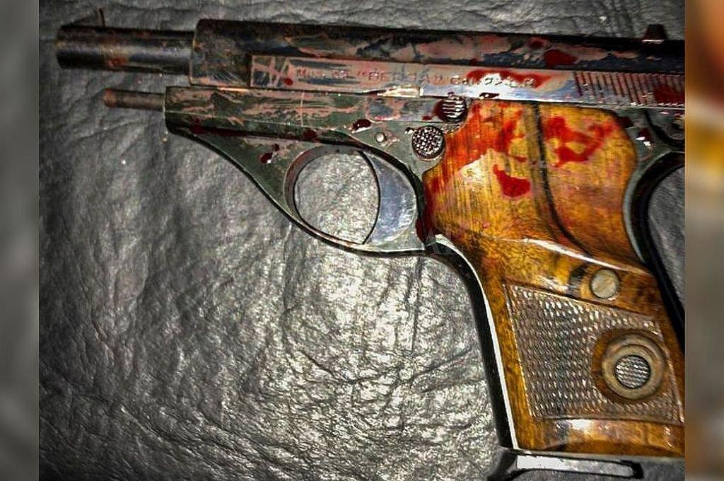 Arma con la que Tassara se defendió de uno de los ladrones. Lo atacó a