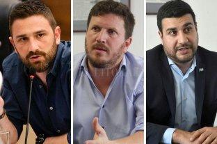 Enrique Estevez, Federico Angelini y Marcos Cleri serán las cabezas de las listas a diputados nacionales - Estevez, Angelini y Cleri. -