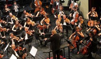 Nuevo concierto de la Sinfónica  - La Orquesta Sinfónica durante un concierto realizado en 2018 bajo la dirección de Enrique Diemecke. -