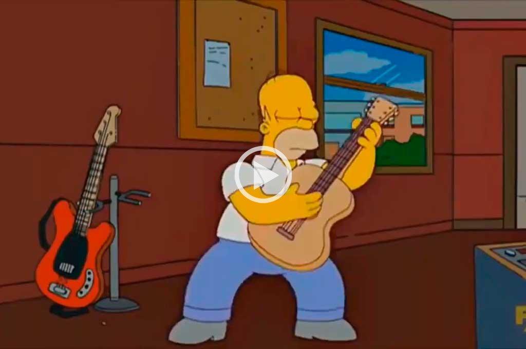 """Video: Los Simpsons y un """"homenaje"""" a Los del Fuego"""