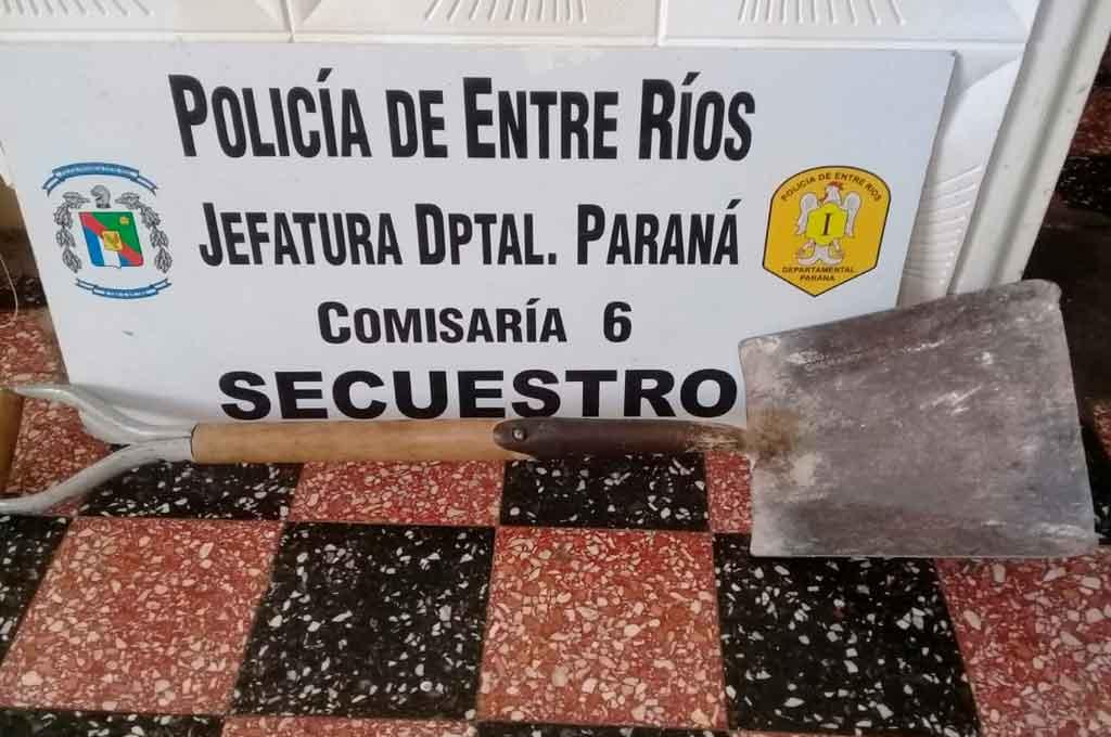 Un operativo policial dio como resultado el secuestro de una pala
