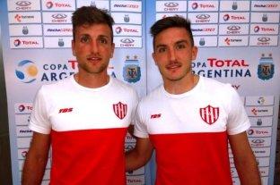 Los Pittón se despidieron de Unión  - Inseparables. Bruno y Mauro Pittón, quienes debutaron profesionalmente en Unión y juntos llegarpn a San Lorenzo.  -