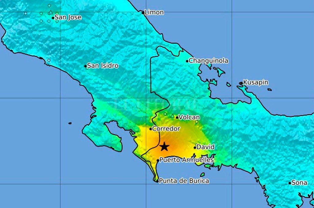Un fuerte sismo afectó a Costa Rica y Panamá -  -