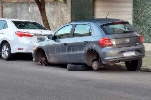 Preocupa el robo de ruedas a autos en la ciudad: tres casos en dos días -  -
