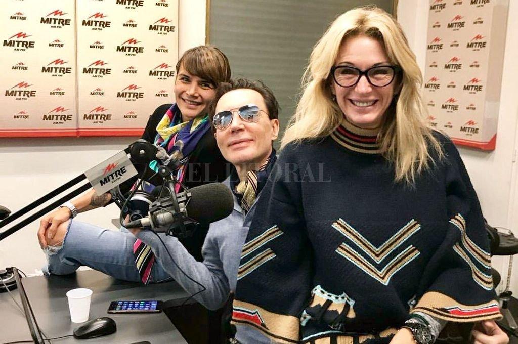 Amalia Granata, Marcelo Polino y Yanina Latorre en el programa radial del sábado por la mañana. <strong>Foto:</strong> Twitter de Marcelo Polino