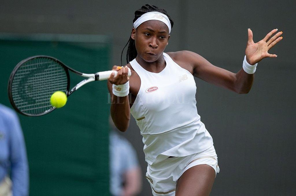 Cori Gauff, de 15 años, dio la nota en el inicio del tercer Grand Slam de la temporada. <strong>Foto:</strong> Prensa Wimbledon