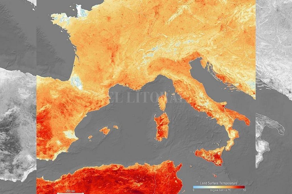 Imagen tomada el jueves 27 de junio por el Copernicus Sentinel data. Crédito: Copernicus.eu