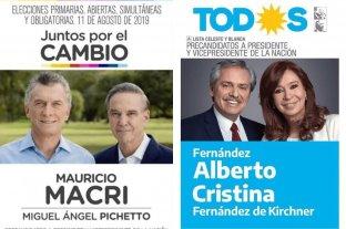 Dieron a conocer las boletas de los candidatos a presidente para las PASO