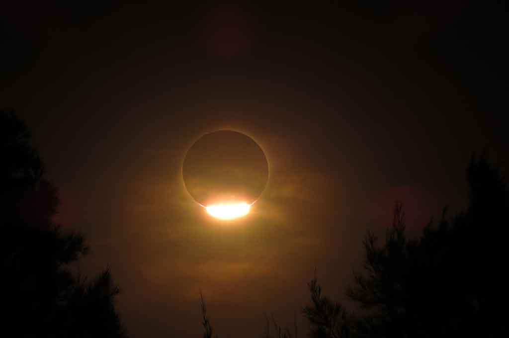 El eclipse solar en Melincué Crédito: Adrián Bruno - @adrianbruno