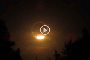 Así se vio el eclipse solar desde el sur de Santa Fe
