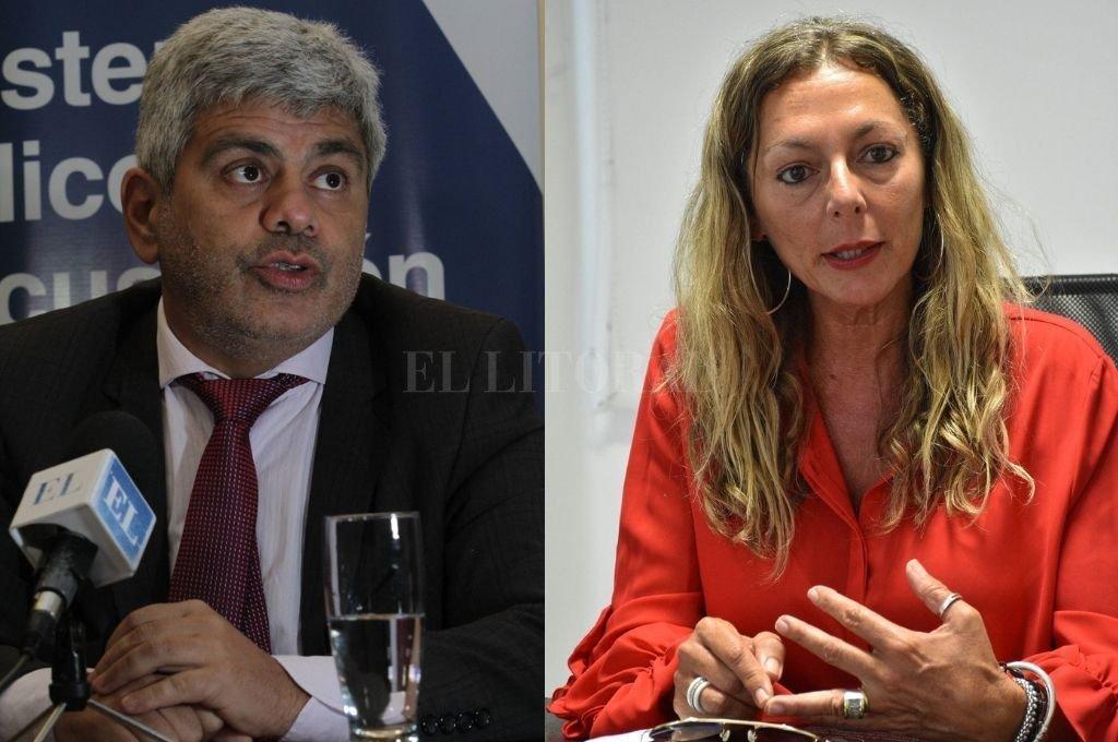 Jorge Camilo Baclini y Jaquelina Balangione están a cargo de Acusación y Defensa hasta 2022.  <br /> <strong>Foto:</strong> Mauricio Garín - Luis Cetraro