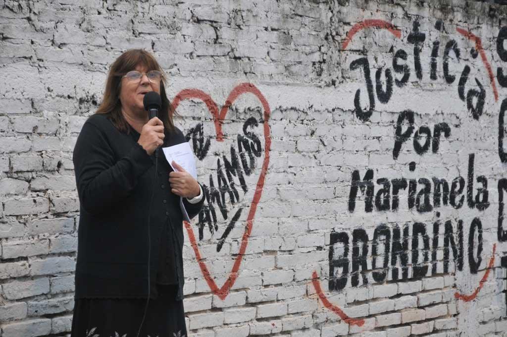 Graciela Peressín, la mamá de Marianela, emprendió una incansable lucha para hacer justicia por el crimen de su hija. Crédito: Archivo El Litoral / Luis Cetraro