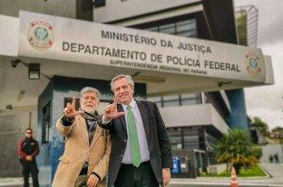 """Alberto Fernández visitó a Lula en prisión y aseguró que """"no duda"""" de su inocencia"""