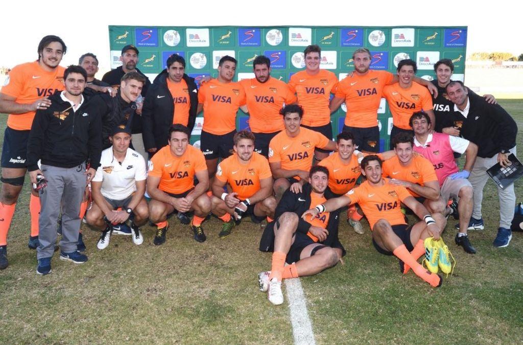 El plantel argentino que inició de muy buena manera su participación en el segundo nivel de la más tradicional competición sudafricana. <strong>Foto:</strong> UAR