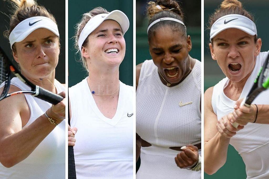 Strykova, Svitolina, Williams y Halep son las cuatro tenistas que quedan en carrera entre las damas. <strong>Foto:</strong> Captura digital