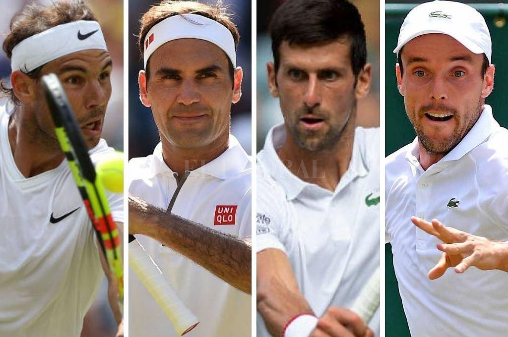 Nadal, Federer, Djokovic y Bautista Agut, semifinalistas en el All England. Crédito: El Litoral