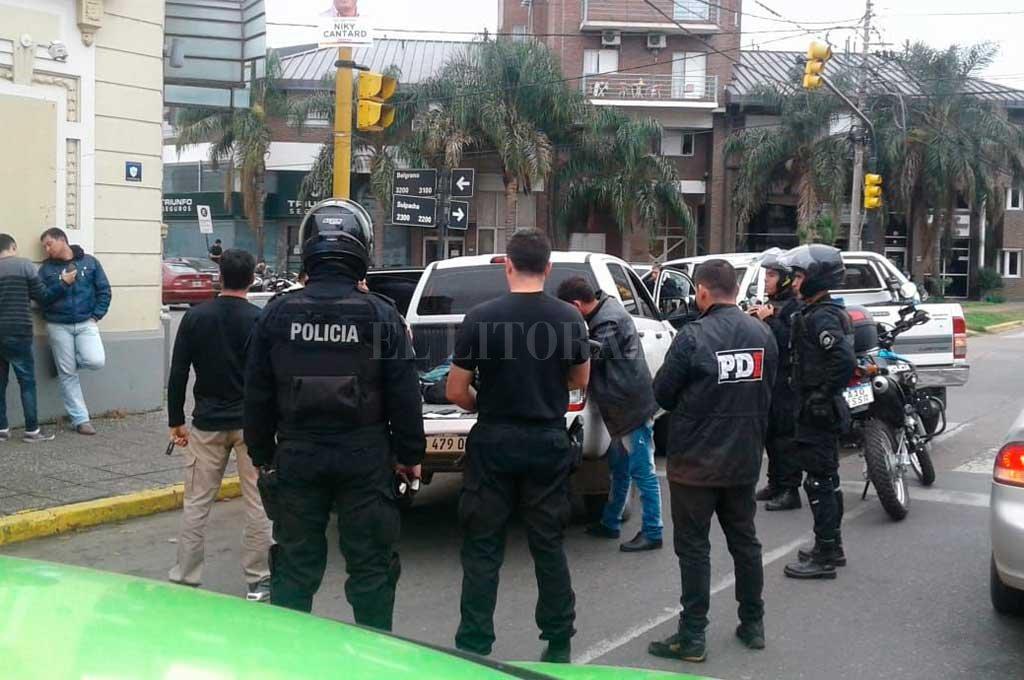 El día del operativo en la ciudad de Santa Fe que detuvieron a parte de la banda <strong>Foto:</strong> Archivo El Litoral