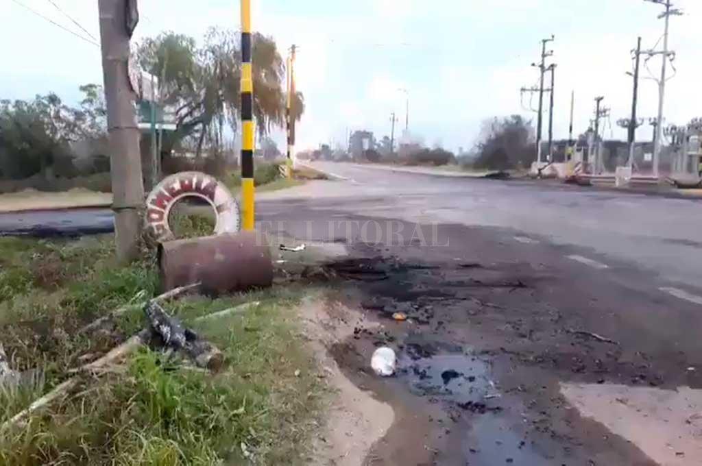 Así lucía la zona donde se produjeron los cortes este jueves por la mañana <strong>Foto:</strong> El Litoral