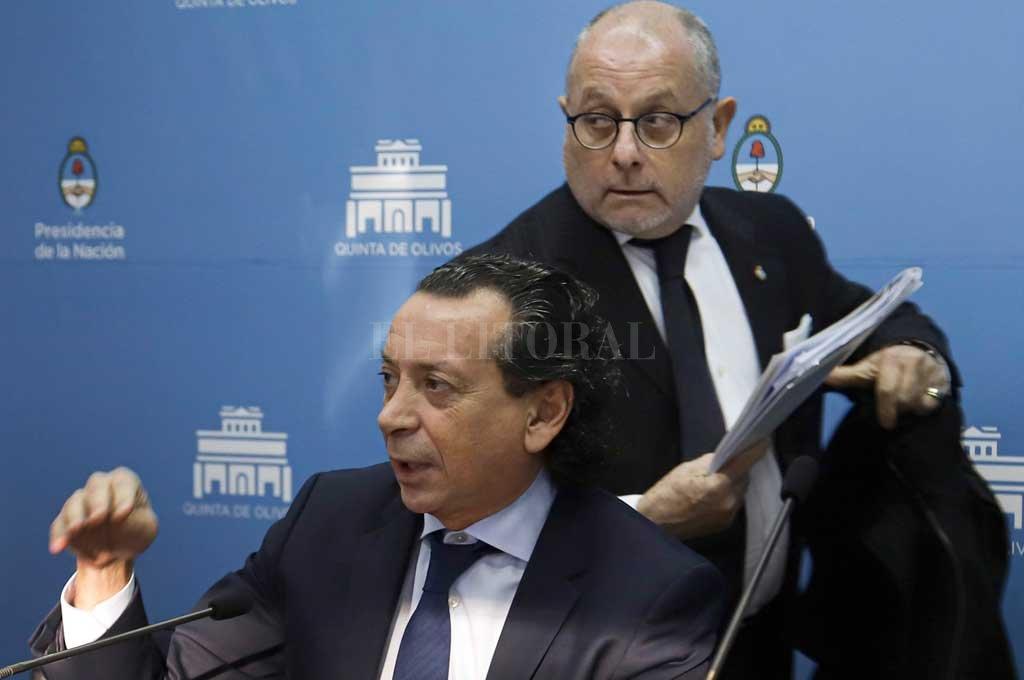 Los ministros Sica y Faurie, encargados de la fuerte gestión del gobierno nacional a favor del acuerdo Mercosur-UE <strong>Foto:</strong> Noticias Argentinas