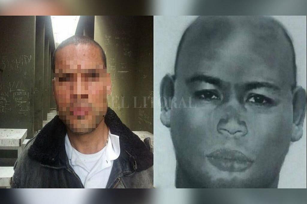 Imagen del hombre detenido este jueves en Rosario, y el identikit elaborado en base a las declaraciones de las víctimas. <strong>Foto:</strong> Gentileza