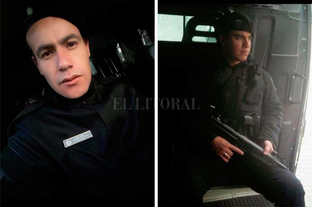 Los suboficiales Daniel Sosa y Alexis Piedrabuena. <strong>Foto:</strong> Gentileza