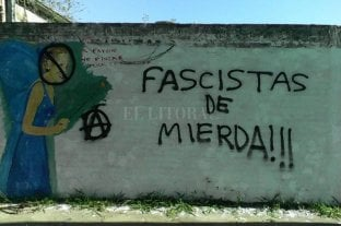 Vandalizaron un mural político en Santo Tomé