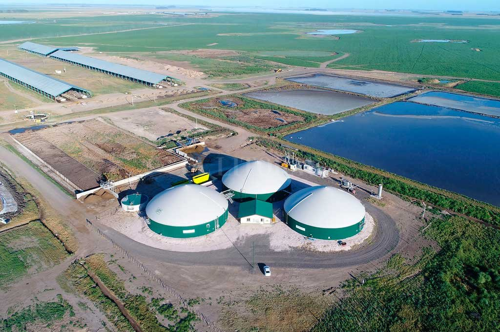 La planta de Adecoagro en el sur provincial <strong>Foto:</strong> Gentileza